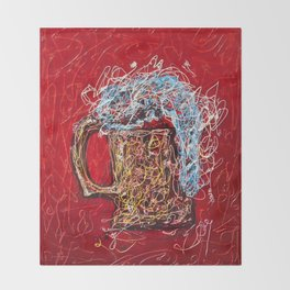 Abstract Beer - Inspired By Pollock  #society6 #wallart #buyart by Lena Owens @OLena Art Throw Blanket