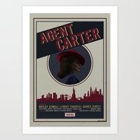 agent carter Art Prints featuring Agent Carter by Adele Hentz