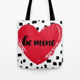 Red Valentine Heart Be Mine Tote Bag