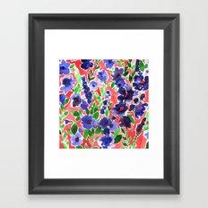 Isla Floral Orange Framed Art Print