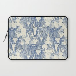 just ox classic blue pearl Laptop Sleeve