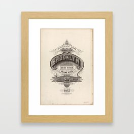 Brooklyn, New York - 1908 Fire Insurance Map Framed Art Print
