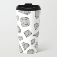 doodle crystals on white Metal Travel Mug