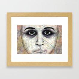 Map Portrait Framed Art Print
