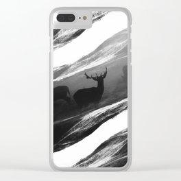 Oh Deer Black Clear iPhone Case