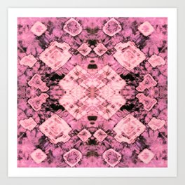 Pink Silk Tie-Dye Art Print