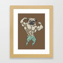 Pug Bodybuilder Framed Art Print