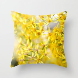 Sunshine & Flowers Throw Pillow