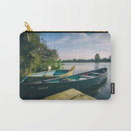 Canoe and Row Boat tethered on the River Thames Carry-All Pouch