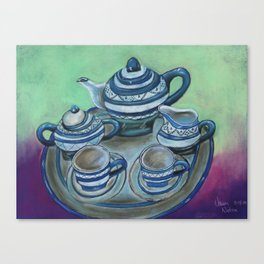 Tea Set Canvas Print