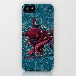 Octopus colored iPhone Case