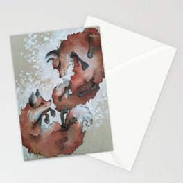 Foxes, snow day Stationery Cards
