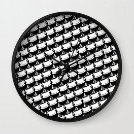 Coffee Pattern Wall Clock