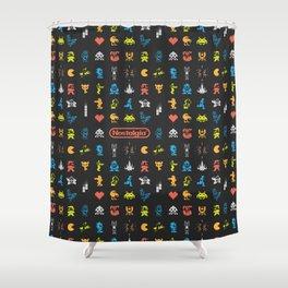 I (heart) Nostalgia Shower Curtain