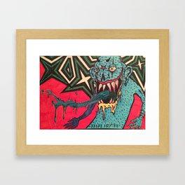 DEMON GOD 'FREAK ANY HO' Framed Art Print