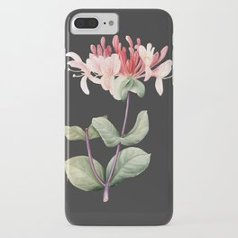 Honeysuckle on Charcoal iPhone Case