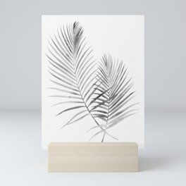 Black and White Palm Fronds Mini Art Print