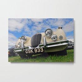 Jaguar Classic Vintage Motor Car Metal Print