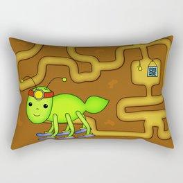 Kawaii Ant Tunneling Home  Rectangular Pillow
