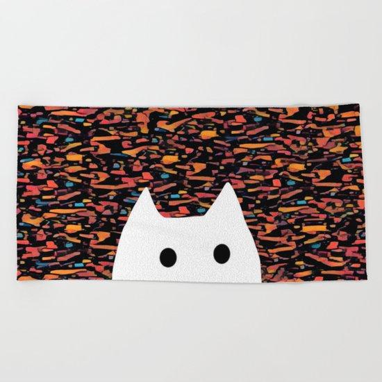 cat-938 Beach Towel