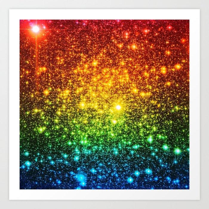 RainBoW Sparkle Stars Kunstdrucke