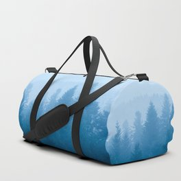 Fog over forest Duffle Bag