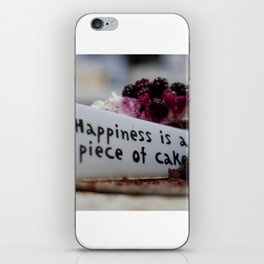 Happiness is Cake iPhone Skin