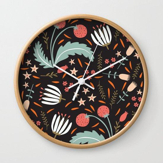 Floral Fusion Wall Clock