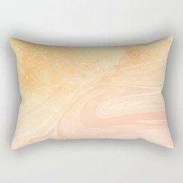 Red marble with gold overflow Rectangular Pillow