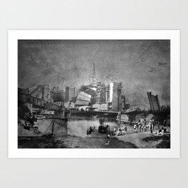 Rivercrossing Art Print