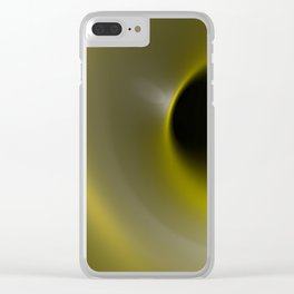 Yellow hole Clear iPhone Case