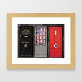 The next door neighbor. Framed Art Print