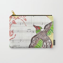 Pheasant Play (pheasant and cherry blossoms on sheet music) Carry-All Pouch