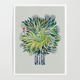 Poofy Asparagus Poster
