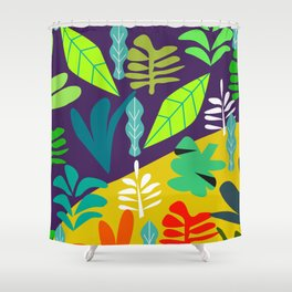 Tropical in two parts Shower Curtain