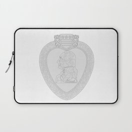 Purple Heart Medal Outline Laptop Sleeve