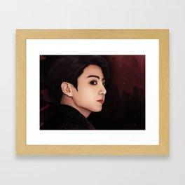 BTS JUNGKOOK FAKE LOVE FANART Framed Art Print