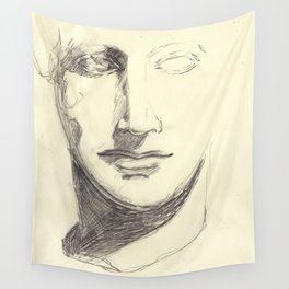 Head of a Goddess - sketch Wall Tapestry