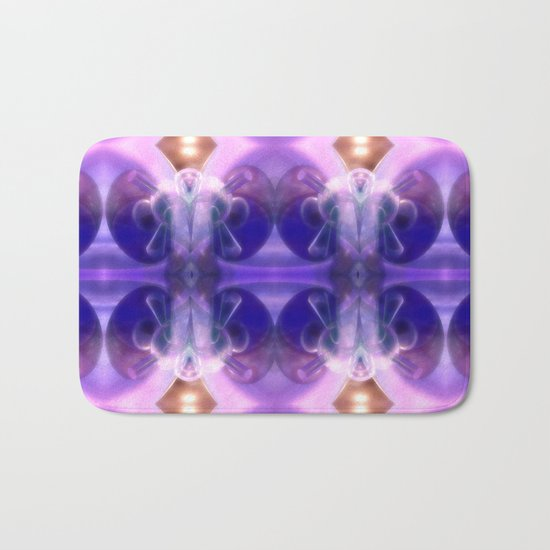 Astronaut of glass and light Bath Mat