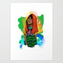 Ustup - kuna/guna girl Art Print