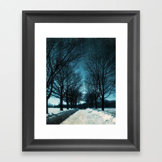 Journey into Blue Framed Art Print