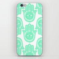 hamsa iPhone & iPod Skins featuring Hamsa  by Luna Portnoi