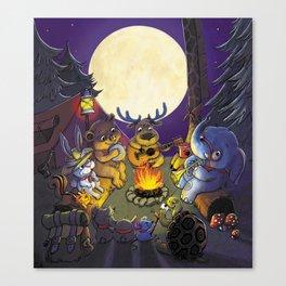 Animal summer camp Canvas Print