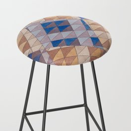 Triangle Pattern No. 13 Shifting Purple and Ochre Bar Stool