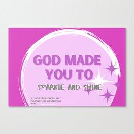 Sparkle and Shine Canvas Print
