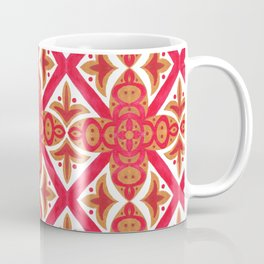 Red orange watercolor traditional italian motif pattern Coffee Mug