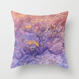 Enchanted Treehouse Throw Pillow
