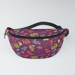 Pretty butterfly and pastel floral pattern - Floral Botanical herbal pattern Fanny Pack
