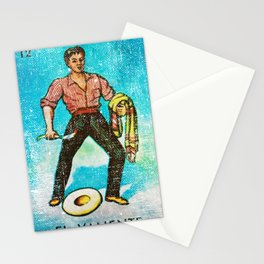 El Valiente Mexican Loteria Bingo Card Stationery Cards