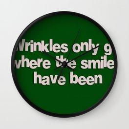 Wrinkles Wall Clock